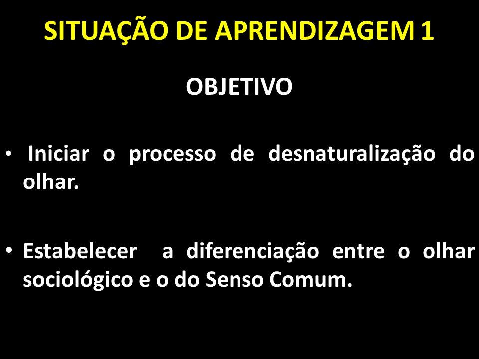 SITUAÇÃO DE APRENDIZAGEM 1
