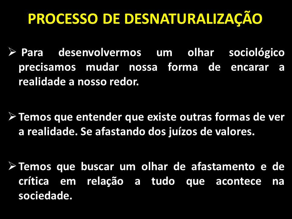PROCESSO DE DESNATURALIZAÇÃO