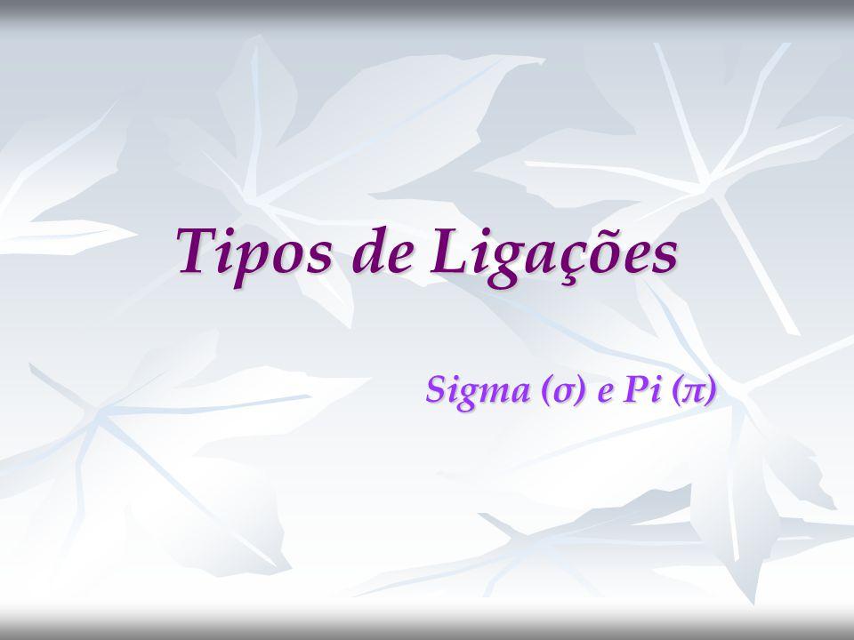 Tipos de Ligações Sigma (σ) e Pi (π)