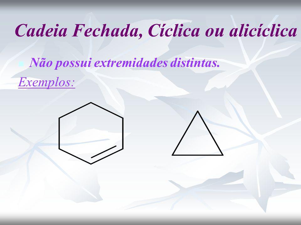 Cadeia Fechada, Cíclica ou alicíclica