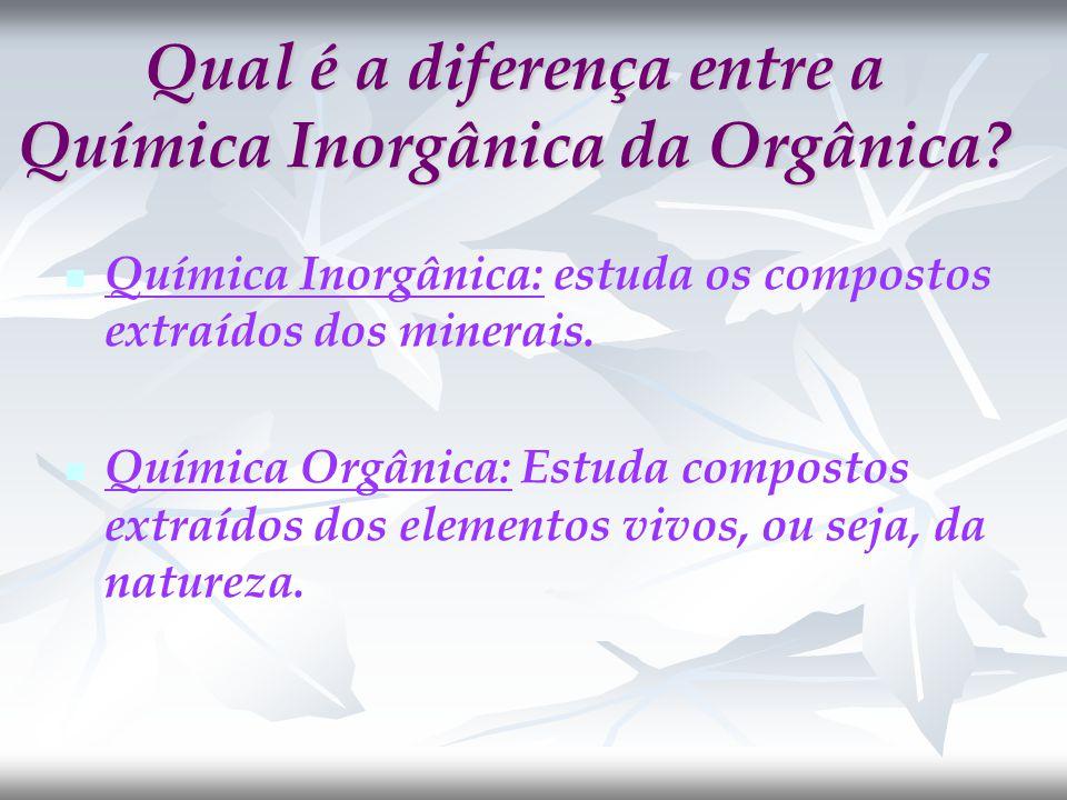 Qual é a diferença entre a Química Inorgânica da Orgânica