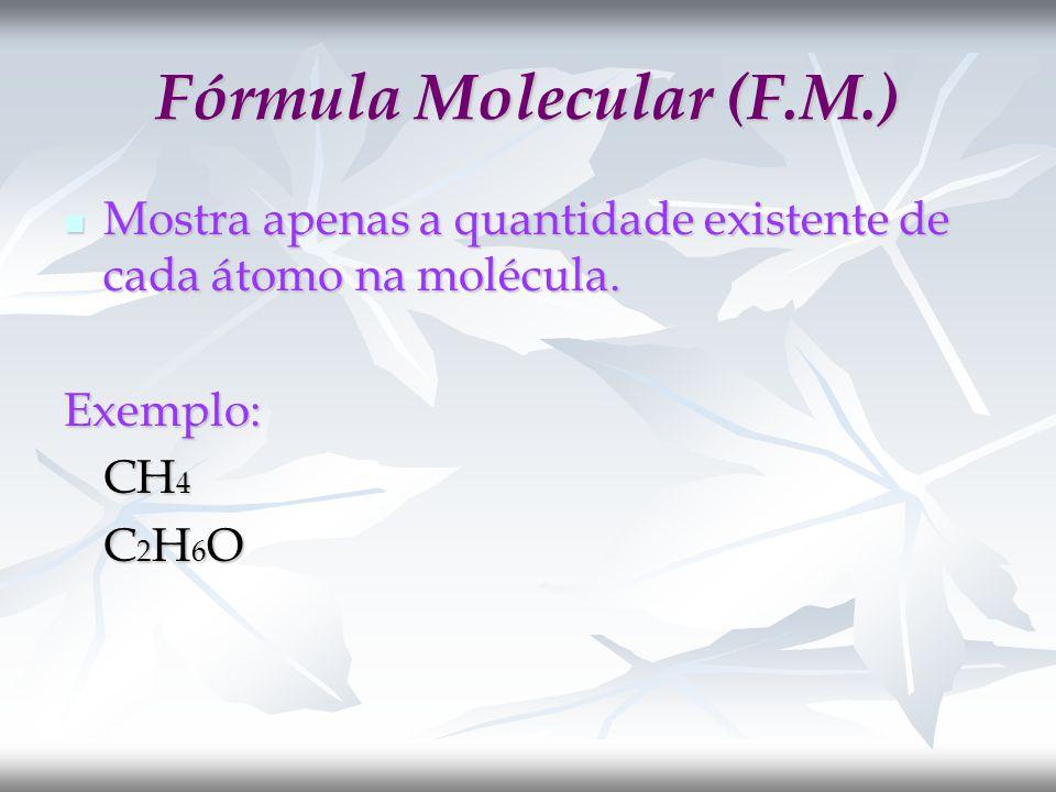 Fórmula Molecular (F.M.)