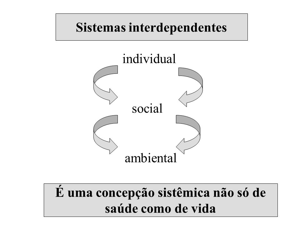 Sistemas interdependentes Sistemas interdependentes