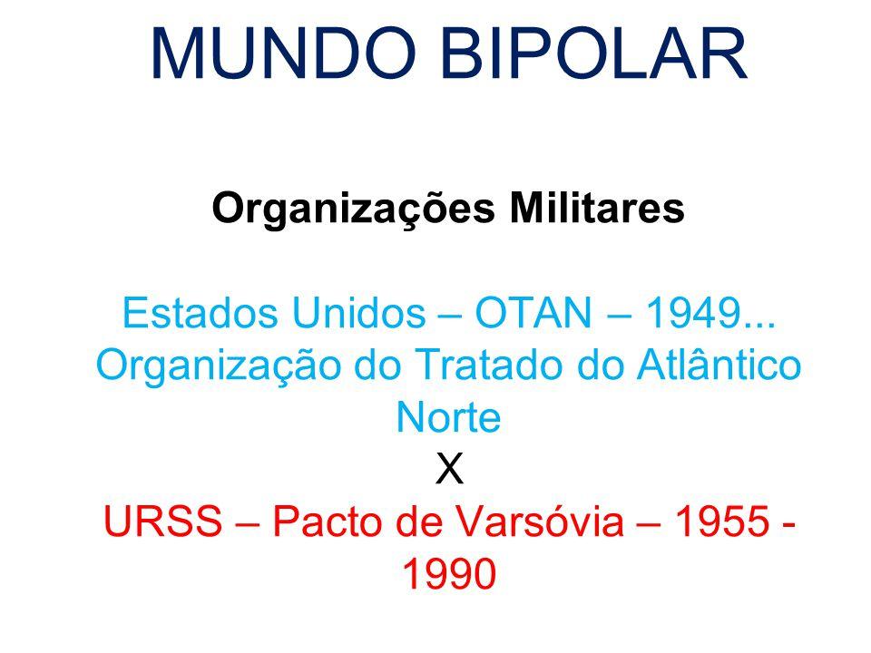 MUNDO BIPOLAR Organizações Militares Estados Unidos – OTAN – 1949