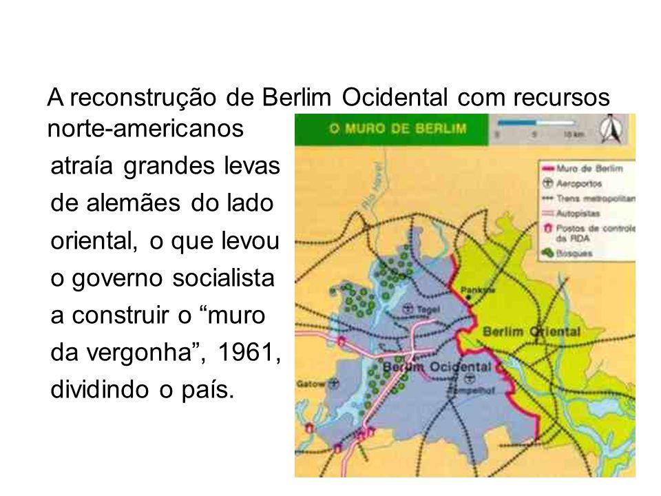A reconstrução de Berlim Ocidental com recursos norte-americanos