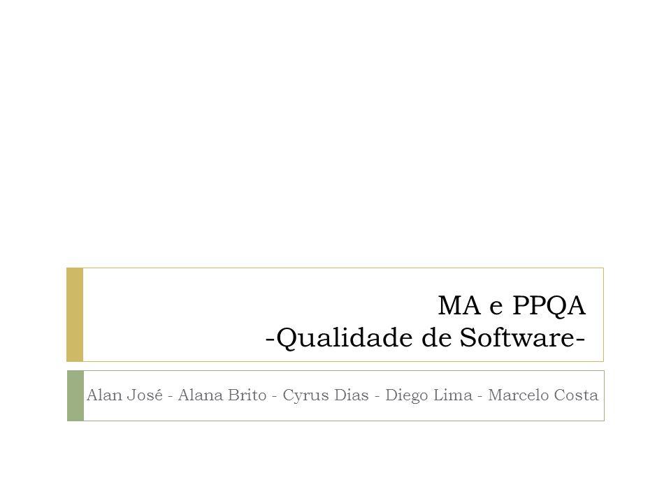 MA e PPQA -Qualidade de Software-