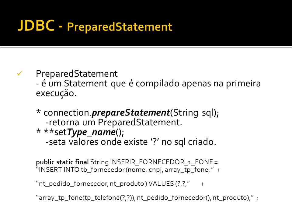 JDBC - PreparedStatement