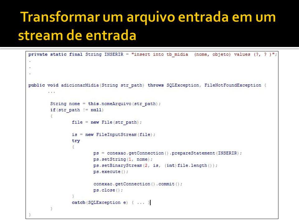 Transformar um arquivo entrada em um stream de entrada