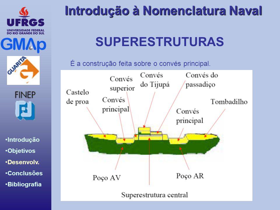 SUPERESTRUTURAS É a construção feita sobre o convés principal.