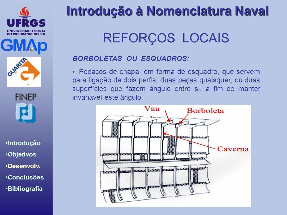 REFORÇOS LOCAIS BORBOLETAS OU ESQUADROS: