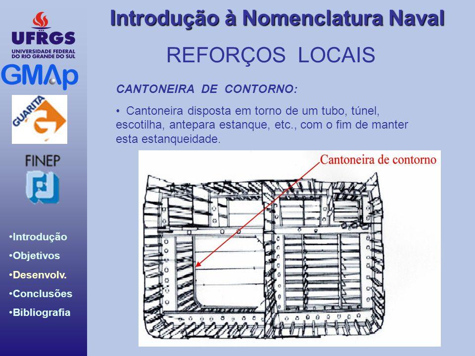 REFORÇOS LOCAIS CANTONEIRA DE CONTORNO: