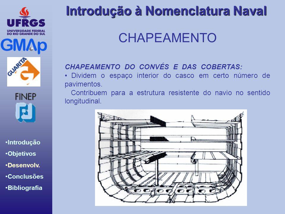 CHAPEAMENTO CHAPEAMENTO DO CONVÉS E DAS COBERTAS: