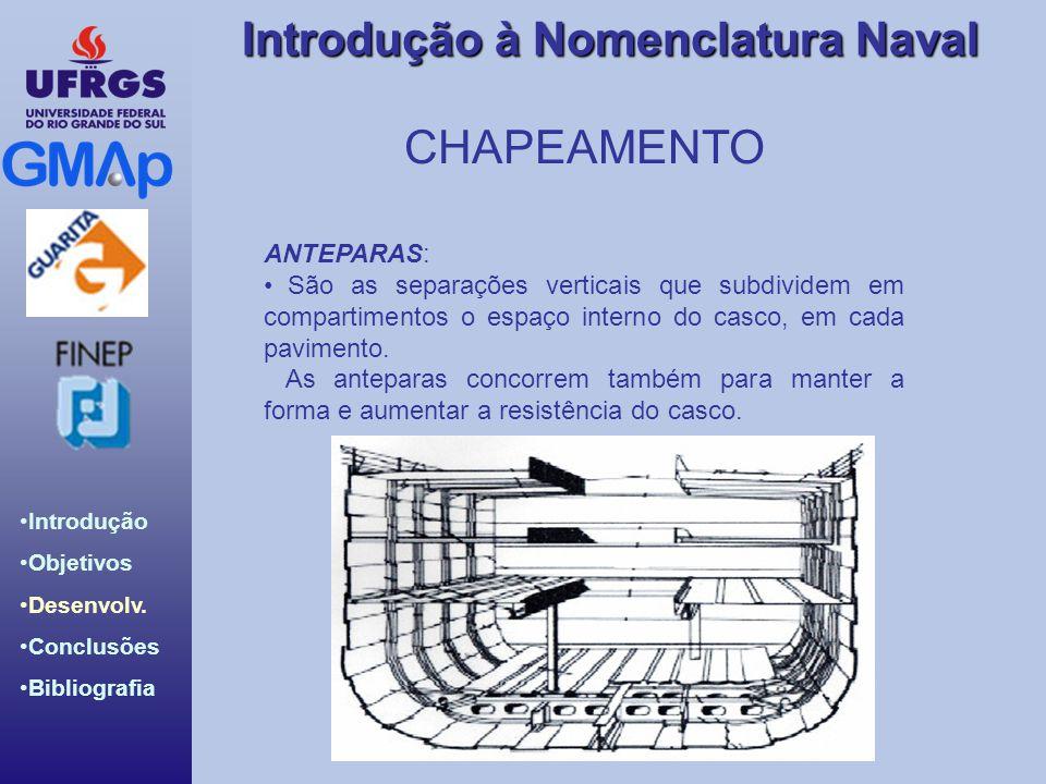 CHAPEAMENTO ANTEPARAS: