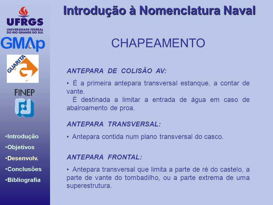 CHAPEAMENTO ANTEPARA DE COLISÃO AV: