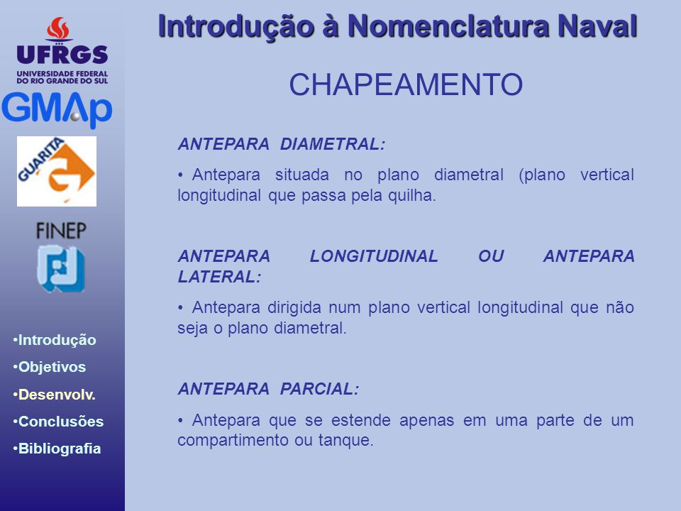 CHAPEAMENTO ANTEPARA DIAMETRAL: