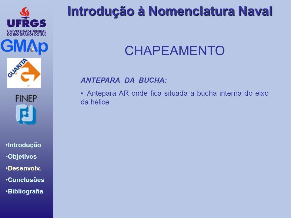 CHAPEAMENTO ANTEPARA DA BUCHA: