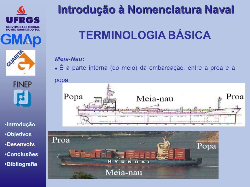 TERMINOLOGIA BÁSICA Meia-Nau: