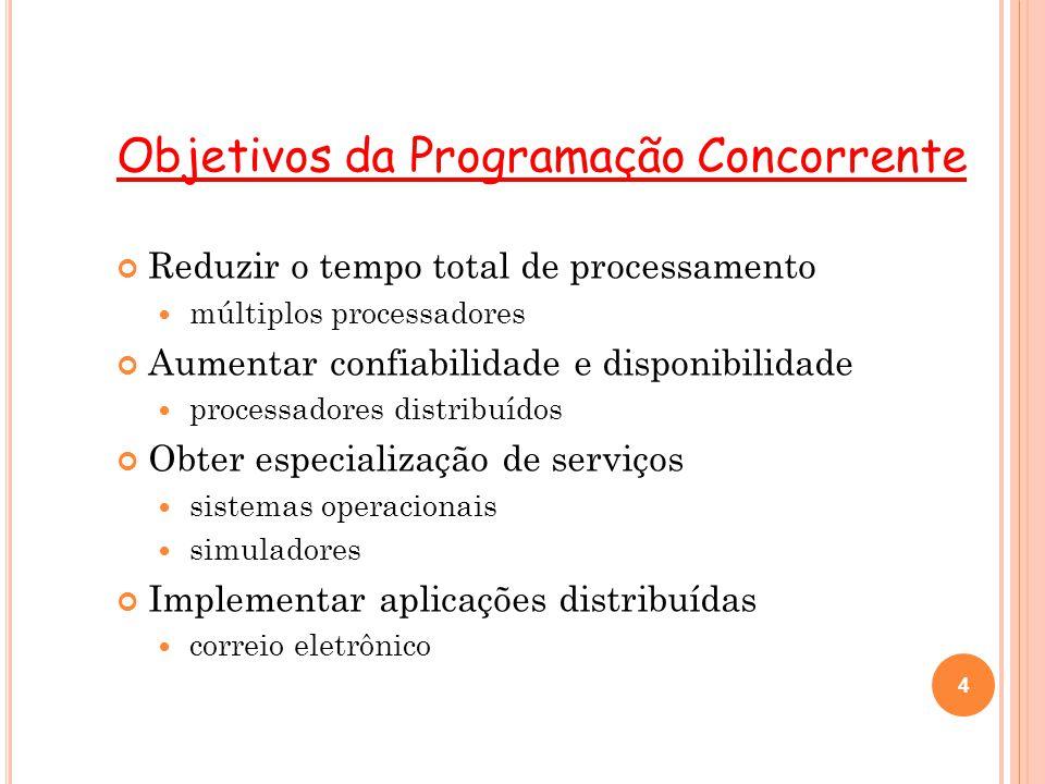 Objetivos da Programação Concorrente