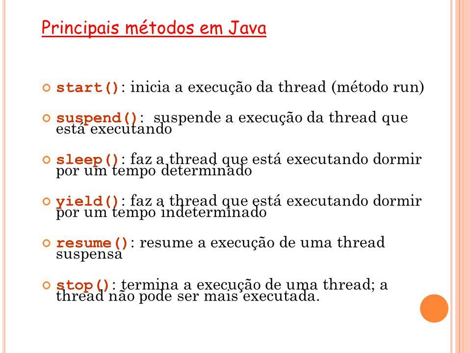 Principais métodos em Java