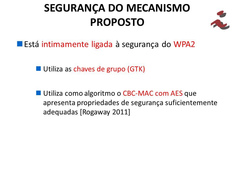 SEGURANÇA DO MECANISMO