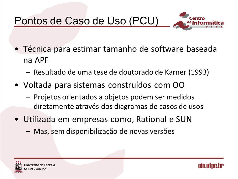 Pontos de Caso de Uso (PCU)