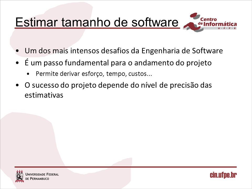 Estimar tamanho de software