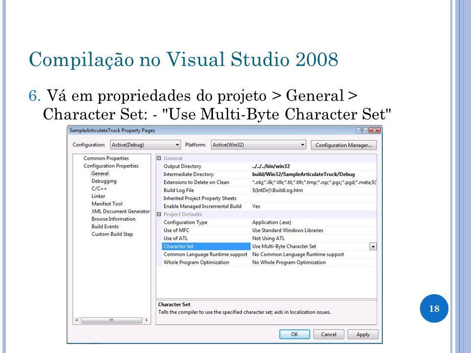 Compilação no Visual Studio 2008