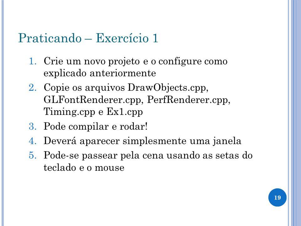 Praticando – Exercício 1