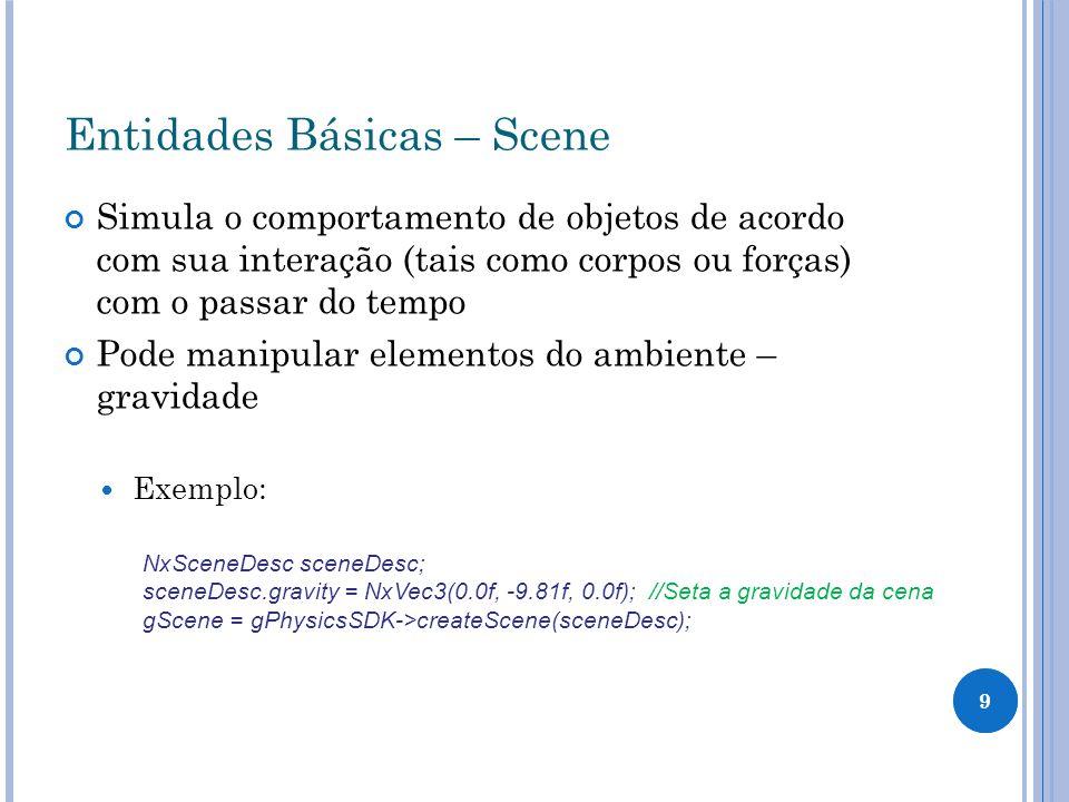 Entidades Básicas – Scene