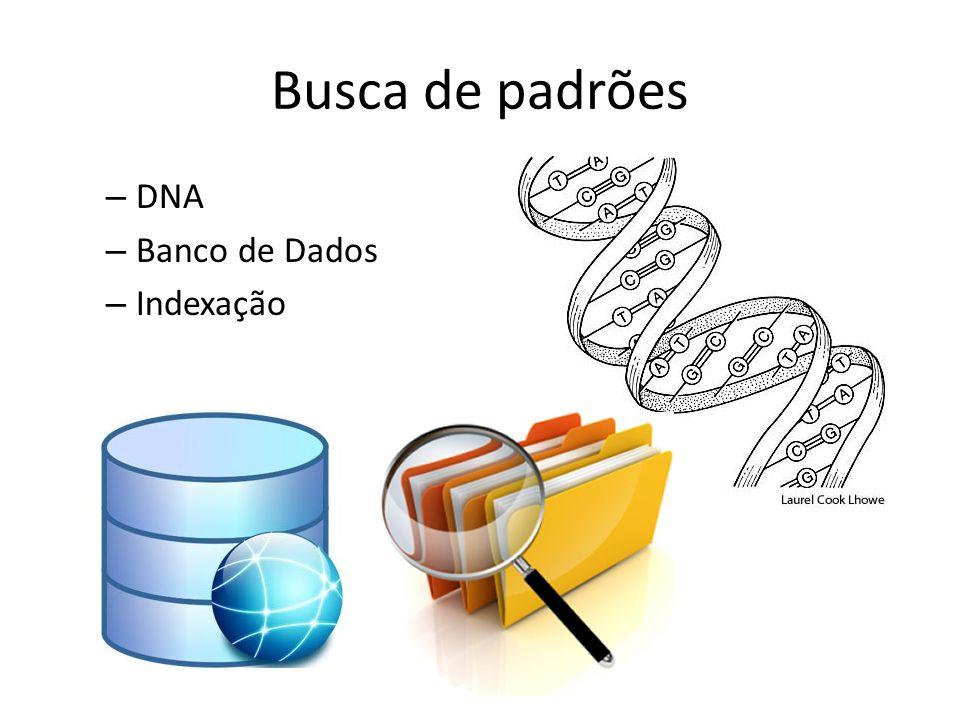 Busca de padrões DNA Banco de Dados Indexação