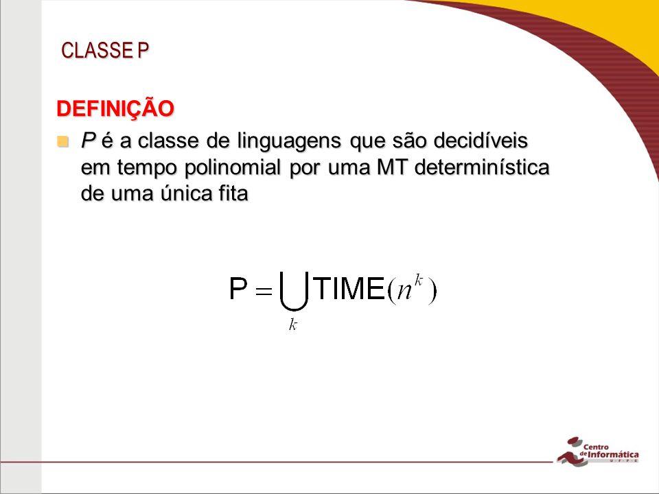 CLASSE P DEFINIÇÃO.