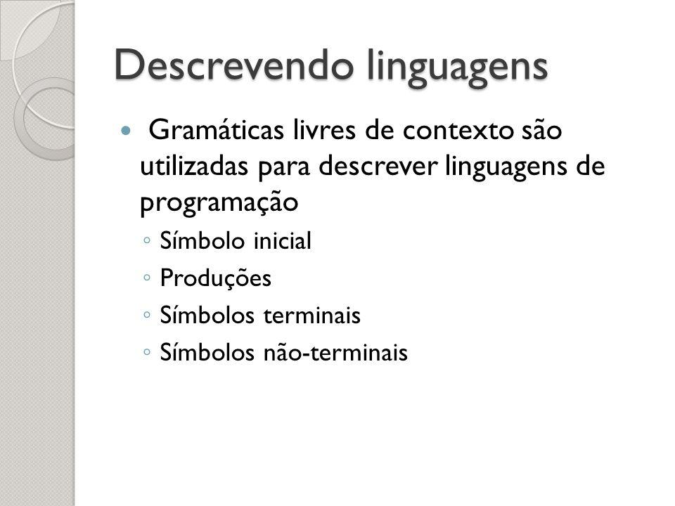 Descrevendo linguagens