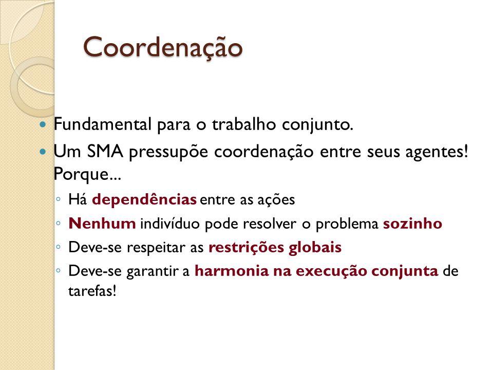 Coordenação Fundamental para o trabalho conjunto.