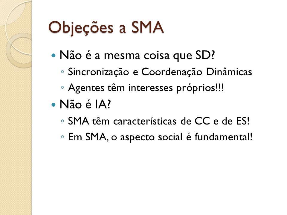 Objeções a SMA Não é a mesma coisa que SD Não é IA