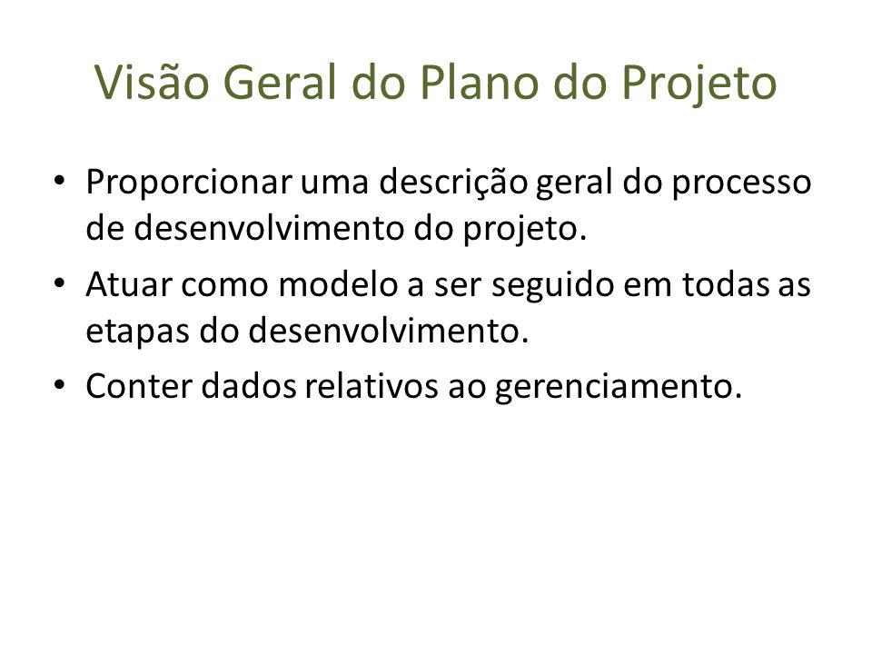 Visão Geral do Plano do Projeto