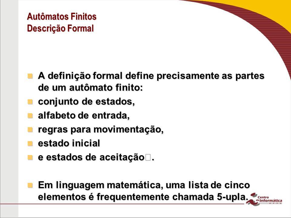 Autômatos Finitos Descrição Formal