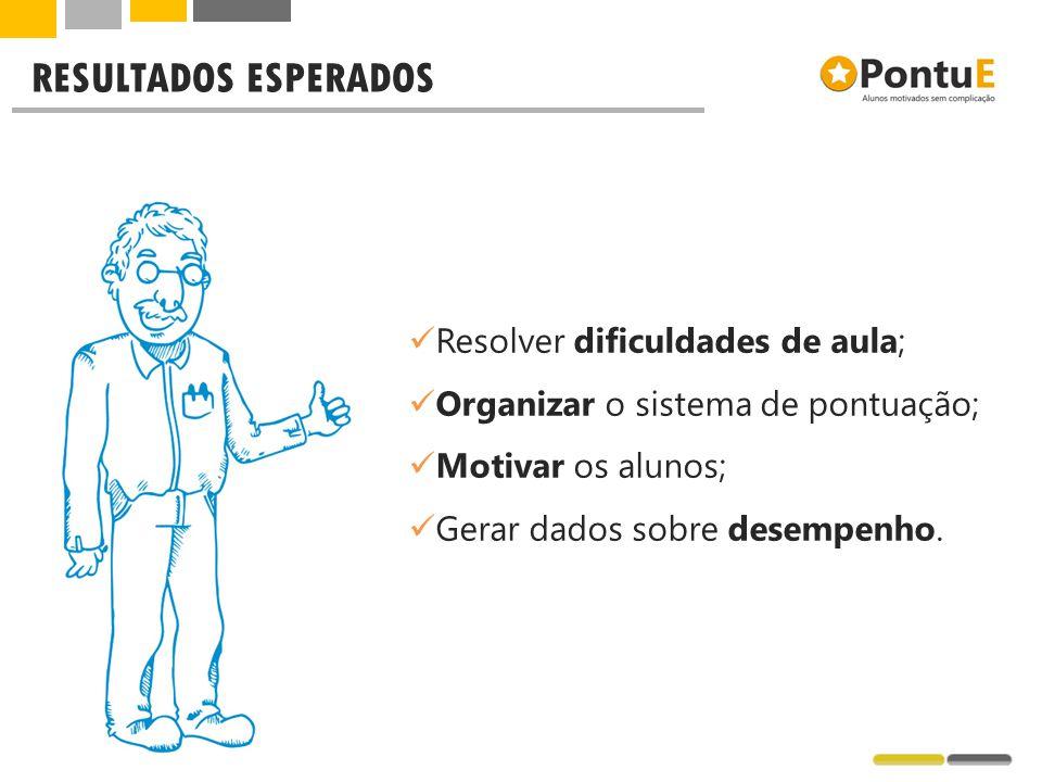 RESULTADOS ESPERADOS Resolver dificuldades de aula;