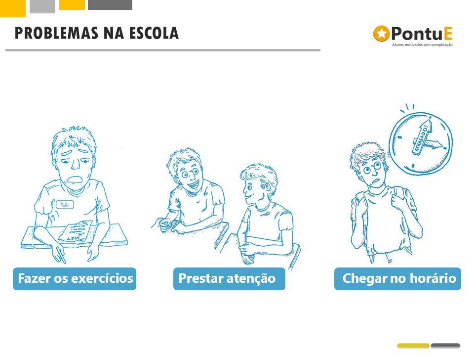 PROBLEMAS NA ESCOLA Fazer os exercícios Prestar atenção