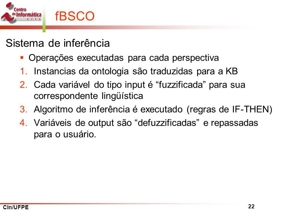 fBSCO Sistema de inferência Operações executadas para cada perspectiva