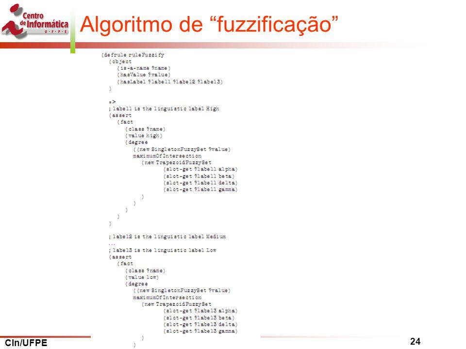 Algoritmo de fuzzificação