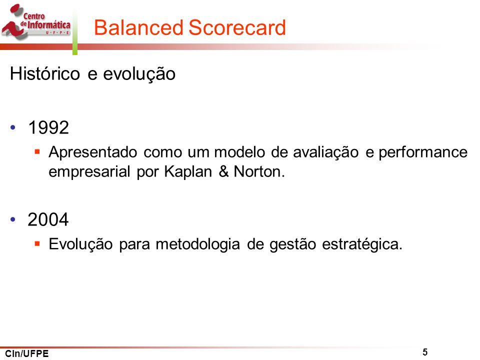 Balanced Scorecard Histórico e evolução 1992 2004