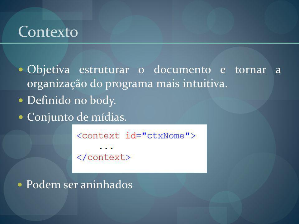 Contexto Objetiva estruturar o documento e tornar a organização do programa mais intuitiva. Definido no body.