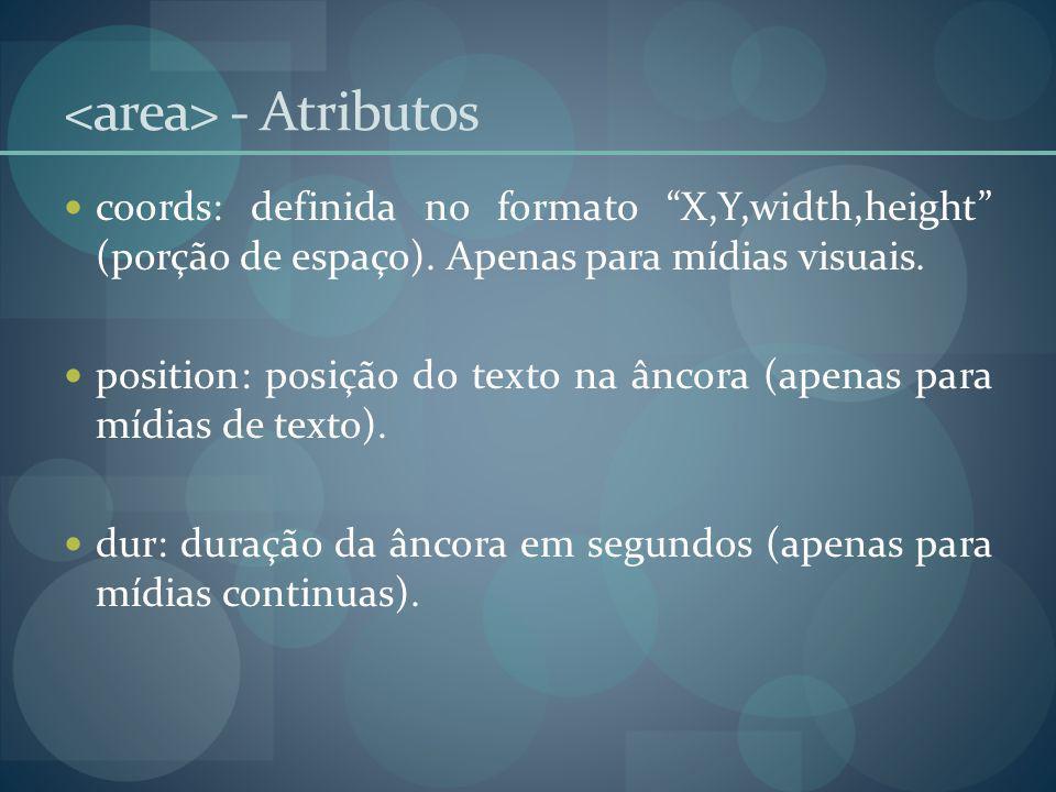 <area> - Atributos