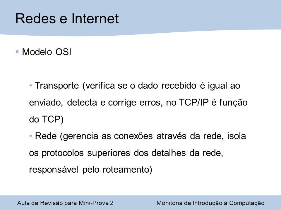 Redes e Internet Modelo OSI