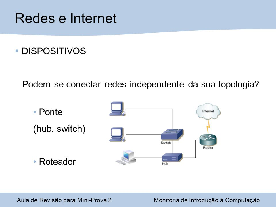 Redes e Internet DISPOSITIVOS