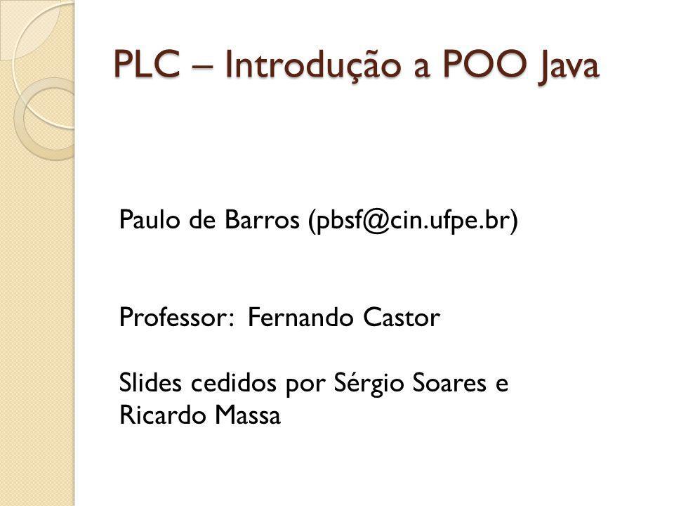 PLC – Introdução a POO Java