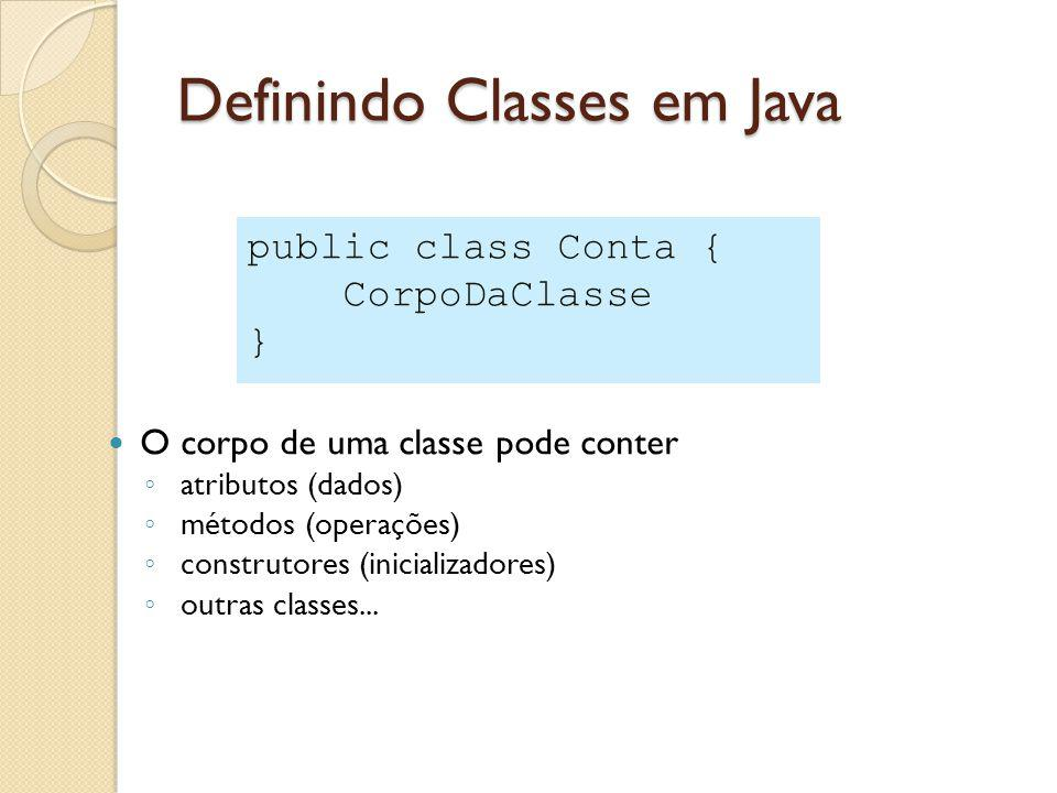 Definindo Classes em Java