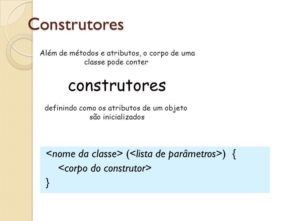 Construtores construtores