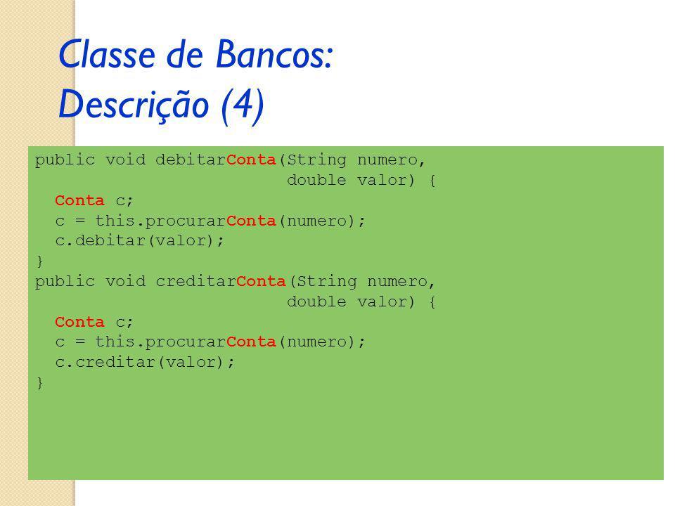 Classe de Bancos: Descrição (4)