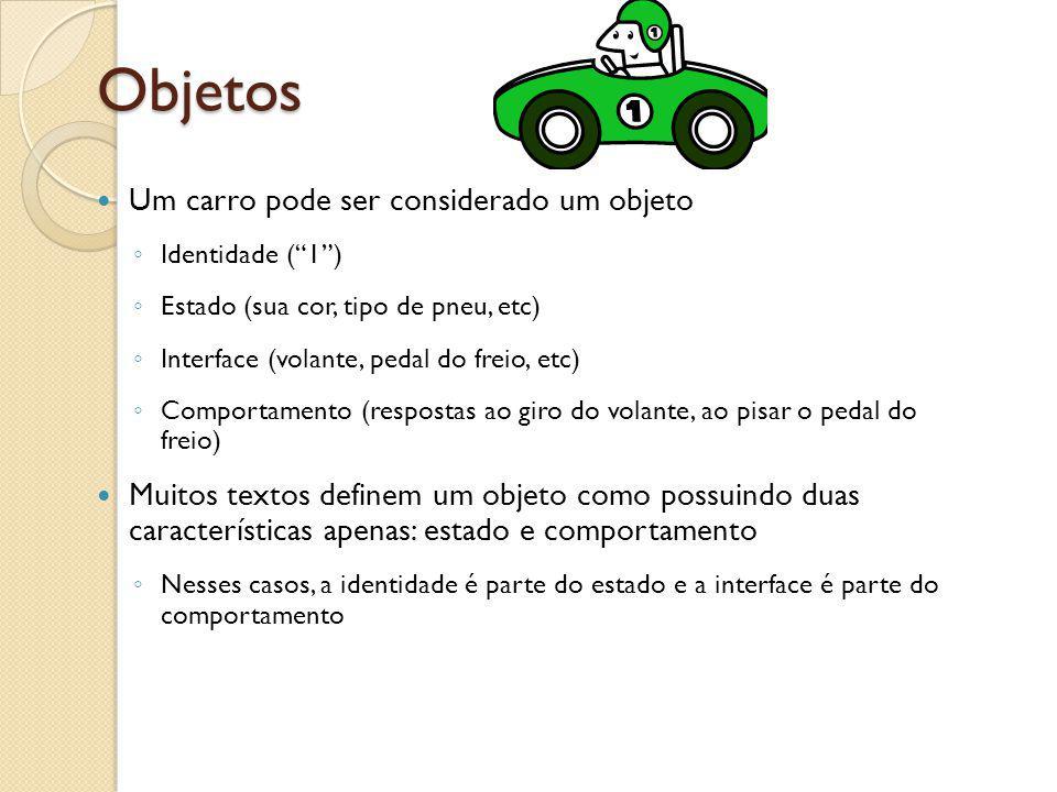 Objetos Um carro pode ser considerado um objeto